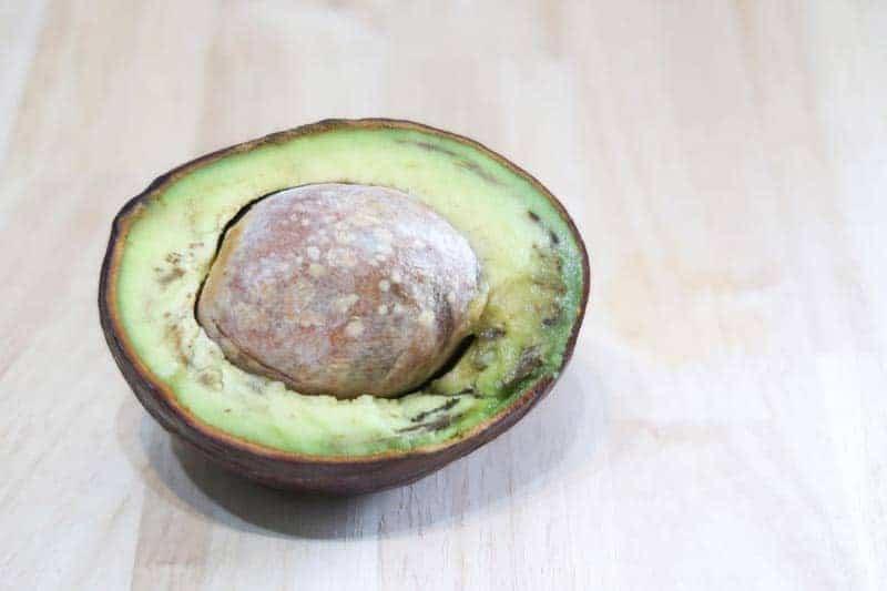 Spoiled avocado