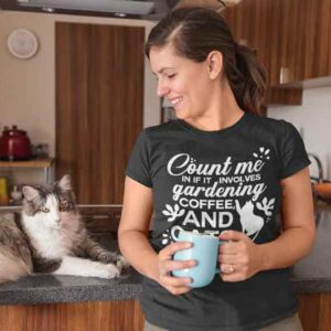 Count Me in Gardening Cat Coffee Mug