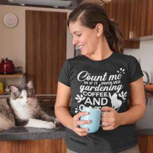 Count Me in Gardening Cat Coffee Mug