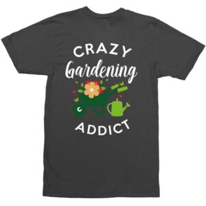 Crazy Gardening Addict Black Mens Shirt