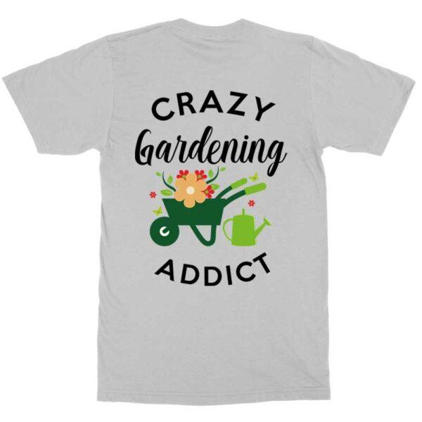 Crazy Gardening Addict Grey Mens Shirt