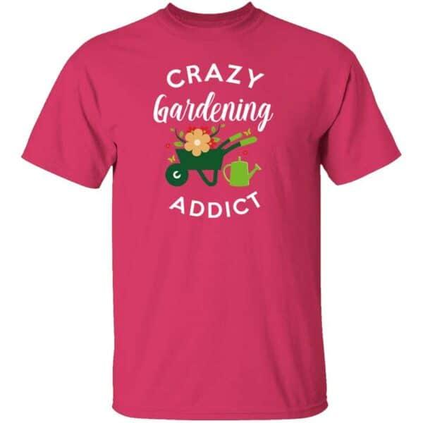 Crazy Gardening Addict Mens Shirt Halconia Pink