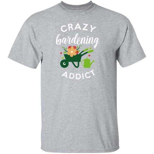 Crazy Gardening Addict Mens Shirt Sport Gray