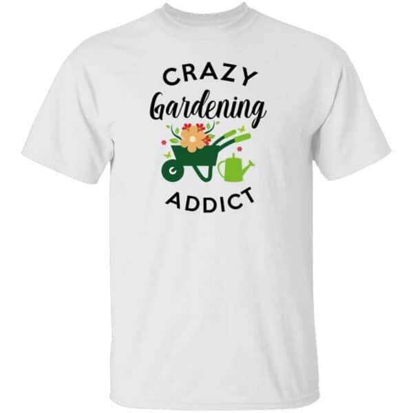 Crazy Gardening Addict Mens Shirt White