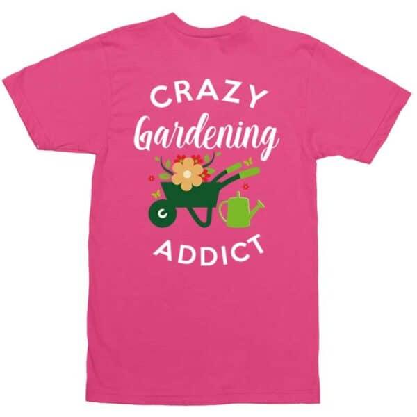 Crazy Gardening Addict Pink Mens Shirt