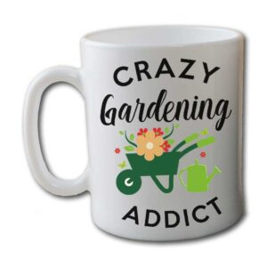 Crazy Gardening Addict White Coffee Mug