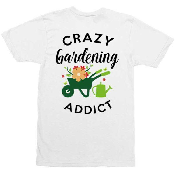 Crazy Gardening Addict White Mens Shirt