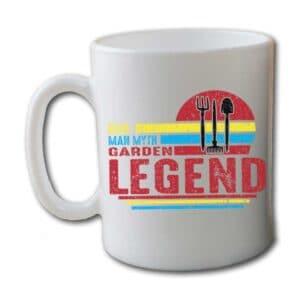 Dad Man Myth Garden Legend White Coffee Mug