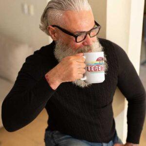 Dad Man Myth Garden Legend White Coffee Mug Man