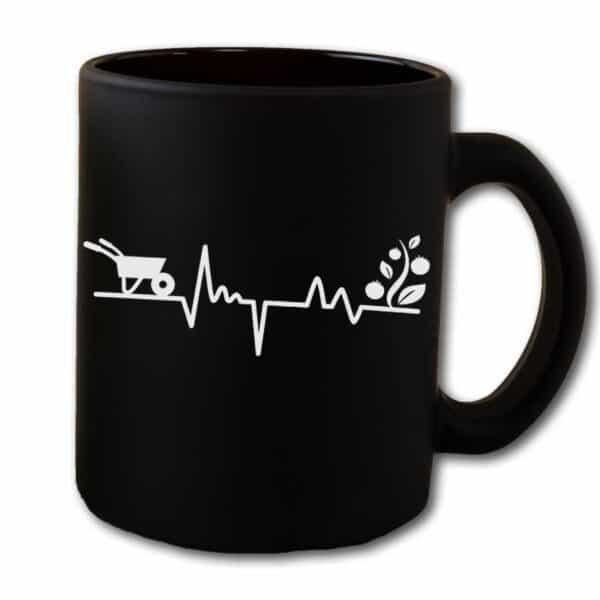 Gardener's Heartbeat Garden Black Coffee Mug