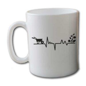 Gardener's Heartbeat Garden White Coffee Mug