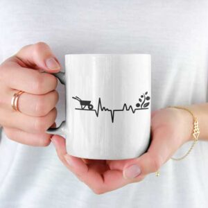 Gardener's Heartbeat Garden White Coffee Mug Woman