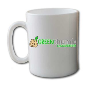 Green Thumb Gardener Garden White Coffee Mug