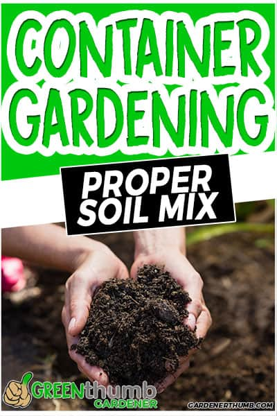 container gardening proper soil mix
