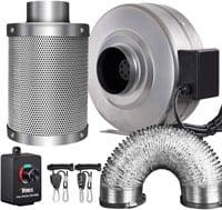 iPower GLFANXINL4FILT4MD8CTR 4 Inch 190 CFM Inline Fan