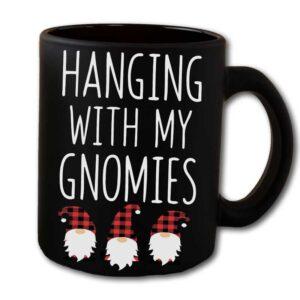 Hanging With My Gnomies Black Coffee Mug