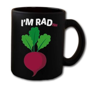 I'm RADish Black Coffee Mug
