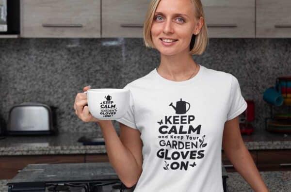 Keep Calm And Pull Weeds White Coffee Mug Woman