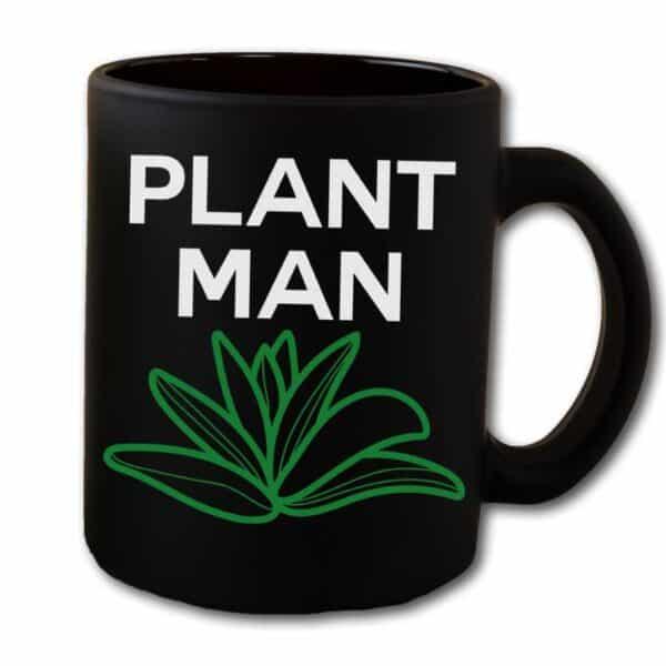 Plant Man Black Coffee Mug