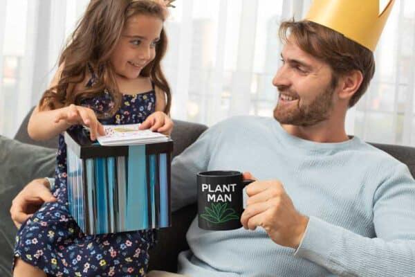 Plant Man Black Coffee Mug Man