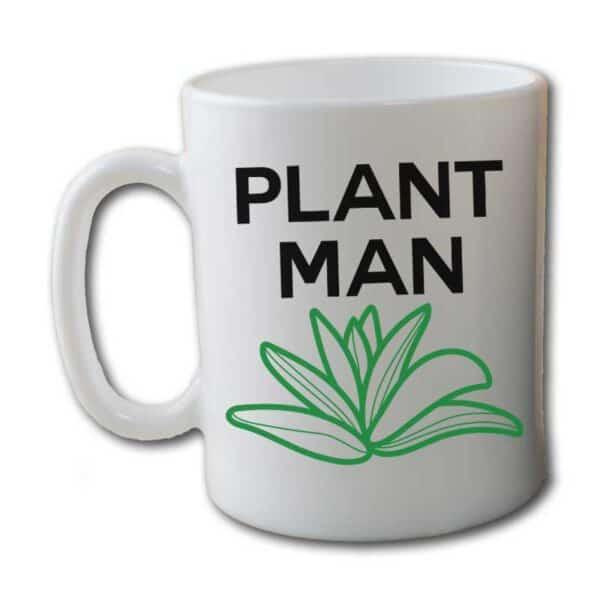 Plant Man White Coffee Mug