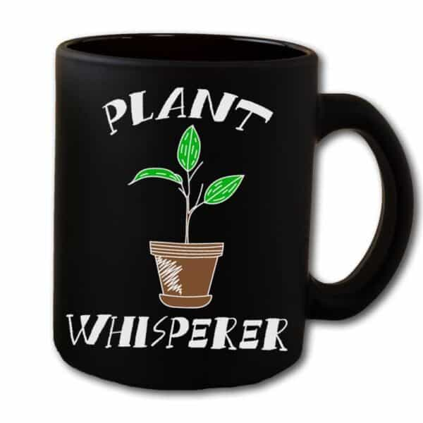 Plant Whisperer Black Coffee Mug