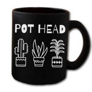 Pot Head Black Coffee Mug