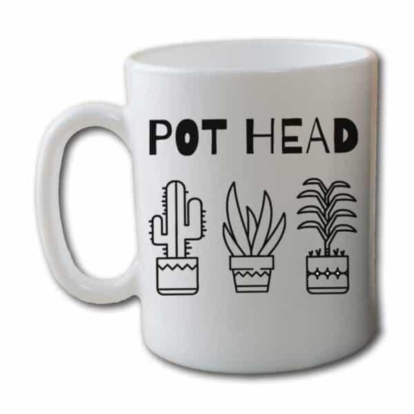 Pot Head White Coffee Mug