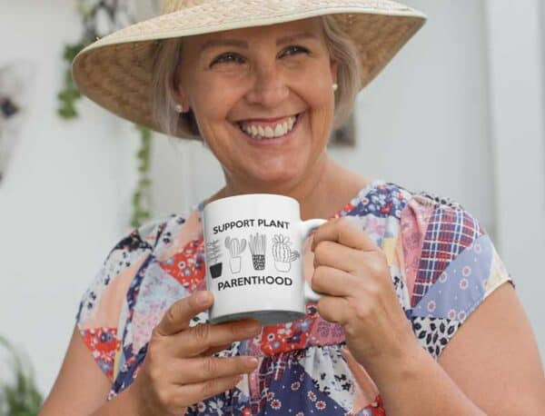 Support Plant Parenthood White Coffee Mug Woman
