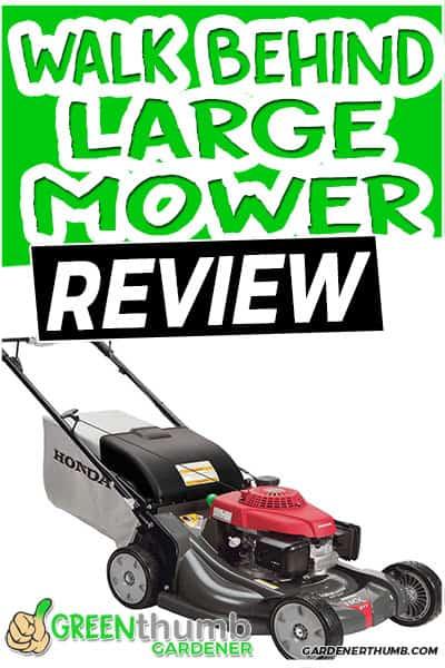 walk behind large mower review