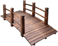MAXXPRIME 5 ft Wooden Garden Bridge