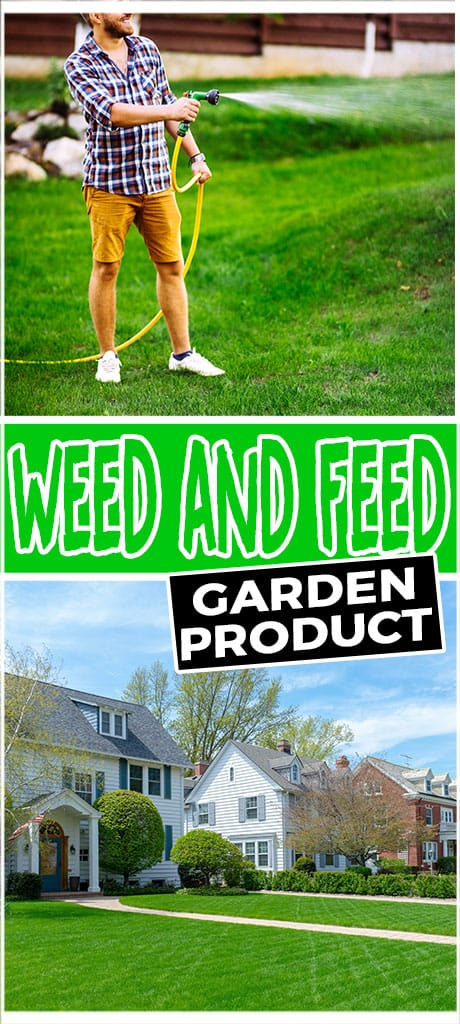 weed and feed garden product