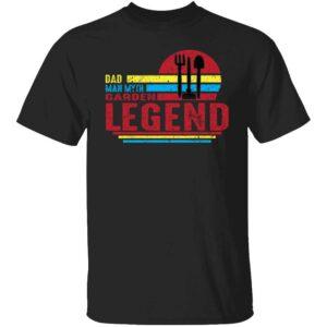 Dad Man Myth Garden Legend Mens T Shirt Black