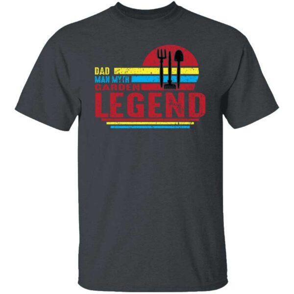Dad Man Myth Garden Legend Mens T Shirt Dark Heather
