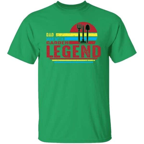 Dad Man Myth Garden Legend Mens T Shirt Irish Green