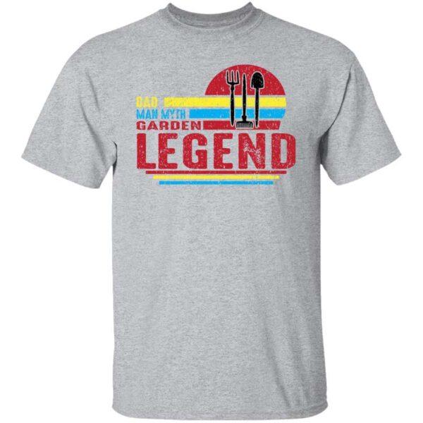 Dad Man Myth Garden Legend Mens T Shirt Sport Grey