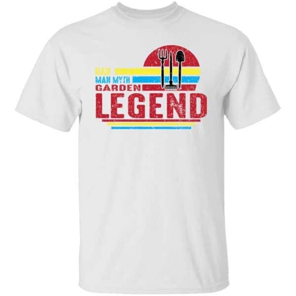 Dad Man Myth Garden Legend Mens T Shirt White