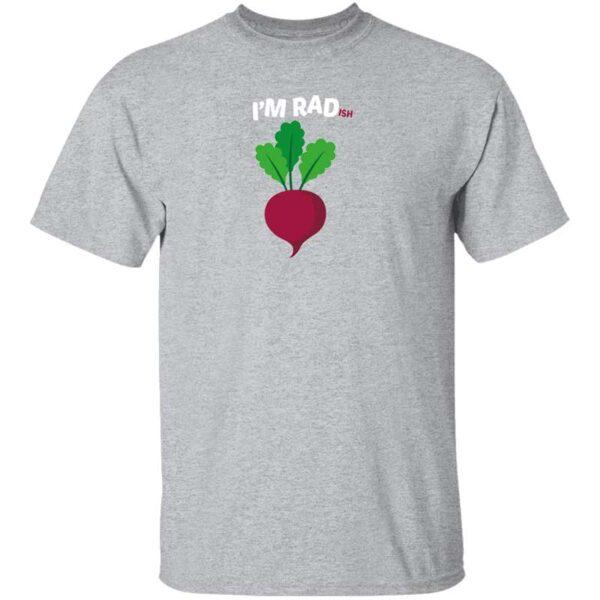 Im RADish Mens T Shirt Sport Grey