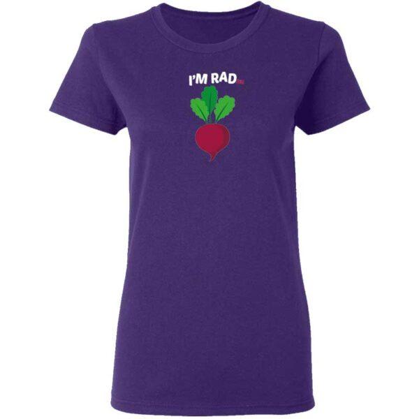 Im RADish Womans T Shirt Purple