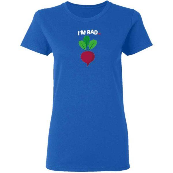 Im RADish Womans T Shirt Royal Blue