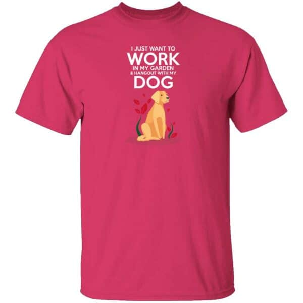 Work in The Garden & Hang With My Dog Mens T Shirt Heliconia