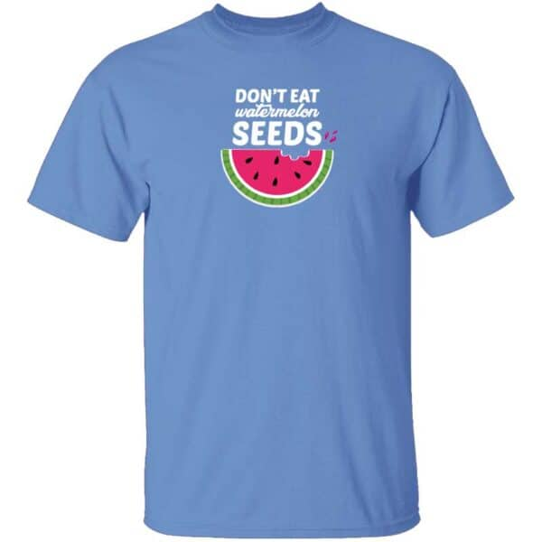Dont Eat Watermelon Seeds Mens T Shirt Carolina Blue