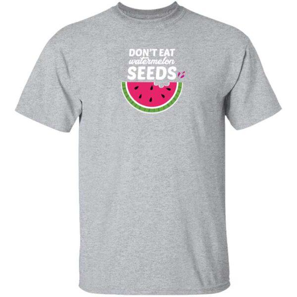 Dont Eat Watermelon Seeds Mens T Shirt Sport Grey