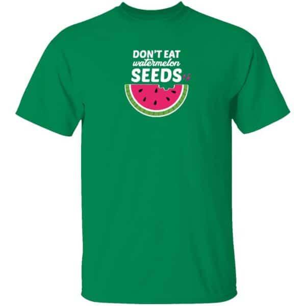 Dont Eat Watermelon Seeds Mens T Shirt Turf Green