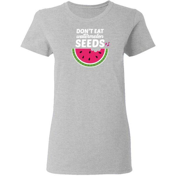 Dont Eat Watermelon Seeds Womans T Shirt Sport Grey