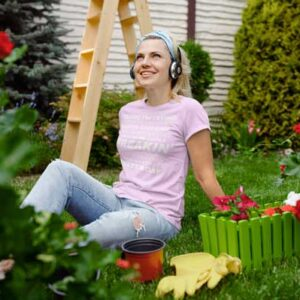 Freakin Awesome Master Gardener Womans T Shirt Light Pink Girl