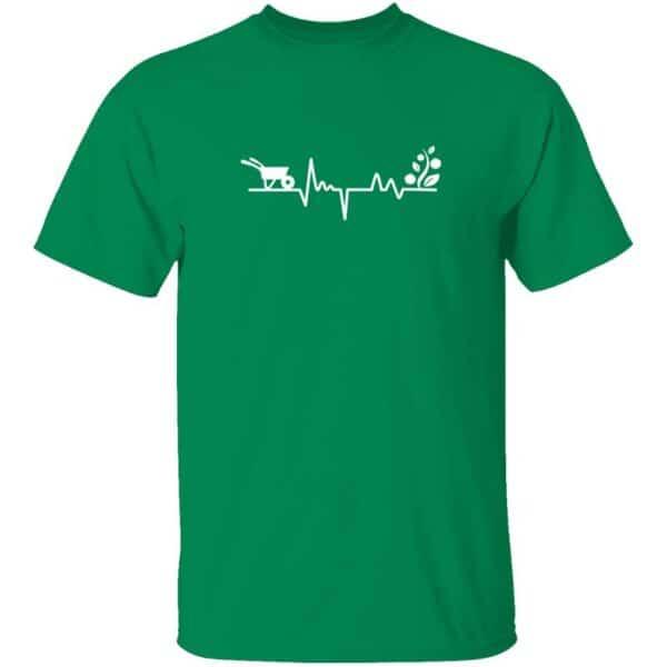 Gardener Heartbeat Plant Lover Mens T Shirt Turf Green
