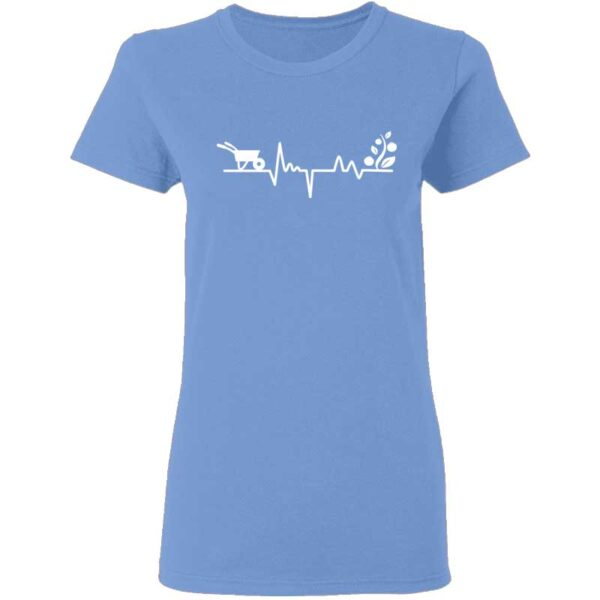 Gardener Heartbeat Plant Lover Womans T Shirt Carolina Blue