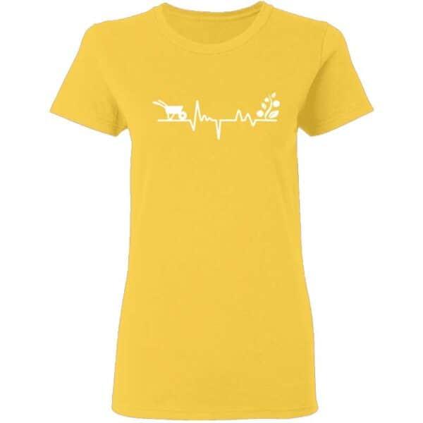 Gardener Heartbeat Plant Lover Womans T Shirt Daisy