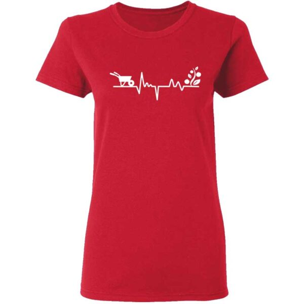 Gardener Heartbeat Plant Lover Womans T Shirt Red
